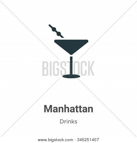 Manhattan icon isolated on white background from drinks collection. Manhattan icon trendy and modern