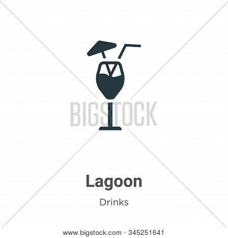 Blue lagoon icon isolated on white background from drinks collection. Blue lagoon icon trendy and mo