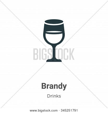 Brandy Vector Icon On White Background. Flat Vector Brandy Icon Symbol Sign From Modern Drinks Colle