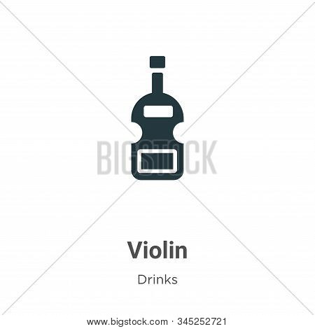 Violin icon isolated on white background from drinks collection. Violin icon trendy and modern Violi