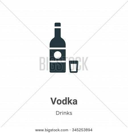 Vodka icon isolated on white background from drinks collection. Vodka icon trendy and modern Vodka s