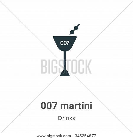 007 Martini Vector Icon On White Background. Flat Vector 007 Martini Icon Symbol Sign From Modern Dr