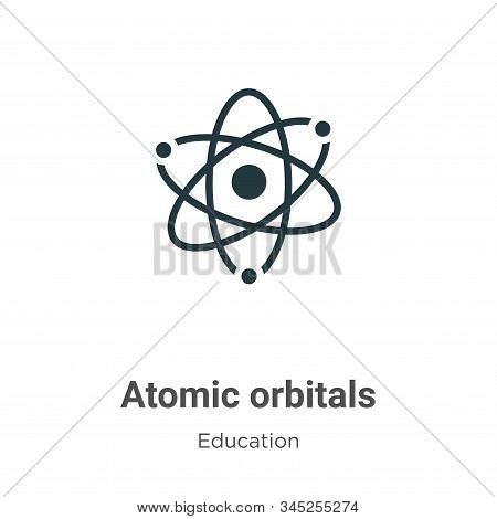 Atomic Orbitals Vector Icon On White Background. Flat Vector Atomic Orbitals Icon Symbol Sign From M
