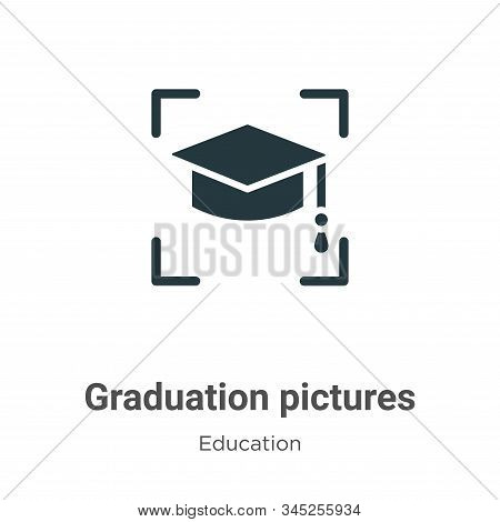 Graduation pictures icon isolated on white background from education collection. Graduation pictures