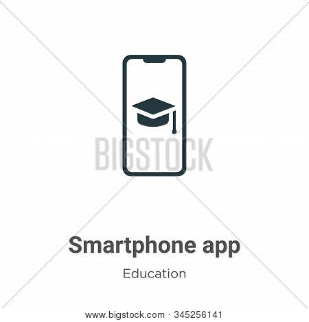 Smartphone app icon isolated on white background from education collection. Smartphone app icon tren