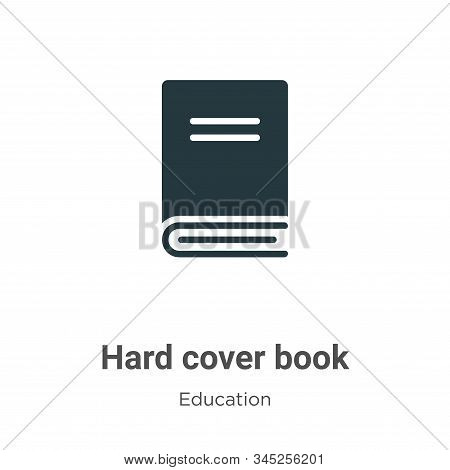 Hard cover book icon isolated on white background from education collection. Hard cover book icon tr