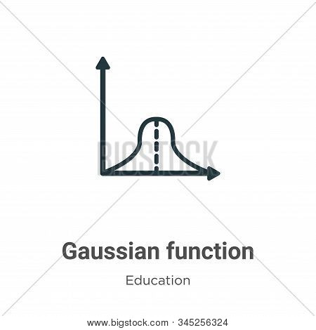 Gaussian function icon isolated on white background from education collection. Gaussian function ico