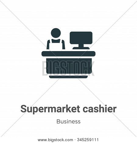 Supermarket cashier icon isolated on white background from business collection. Supermarket cashier