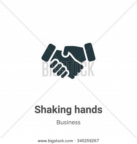 Shaking hands icon isolated on white background from business collection. Shaking hands icon trendy
