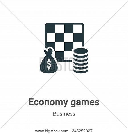 Economy games icon isolated on white background from business collection. Economy games icon trendy