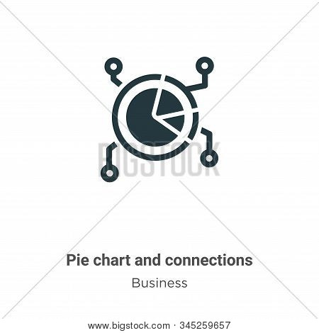 Pie chart and connections icon isolated on white background from business collection. Pie chart and