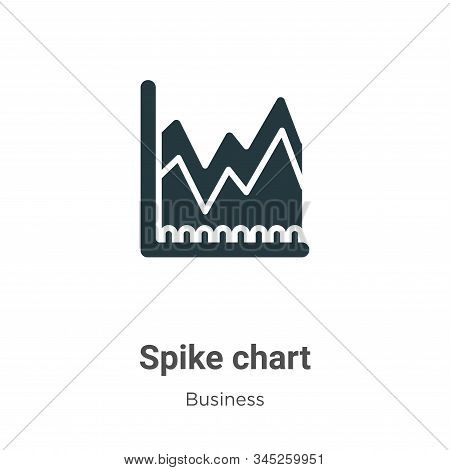 Spike Chart Vector Icon On White Background. Flat Vector Spike Chart Icon Symbol Sign From Modern Bu