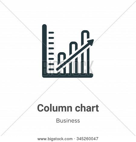 Column chart icon isolated on white background from business collection. Column chart icon trendy an