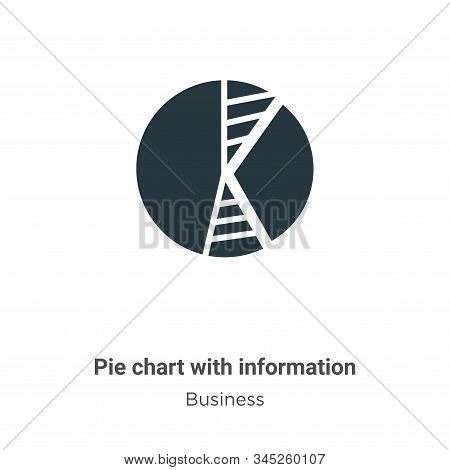 Pie chart with information icon isolated on white background from business collection. Pie chart wit