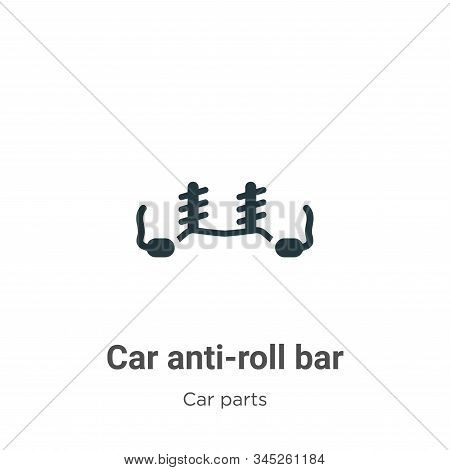 Car anti-roll bar icon isolated on white background from car parts collection. Car anti-roll bar ico