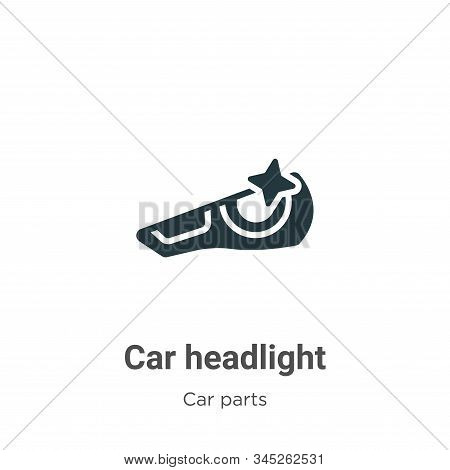 Car headlight icon isolated on white background from car parts collection. Car headlight icon trendy