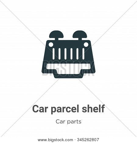 Car parcel shelf icon isolated on white background from car parts collection. Car parcel shelf icon