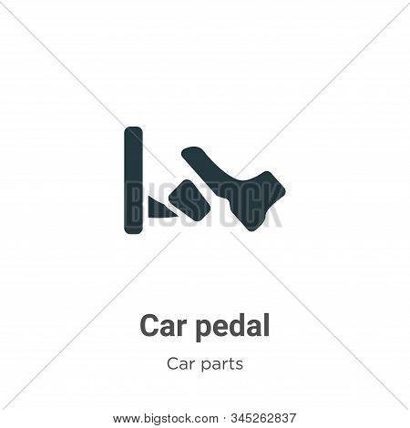 Car Pedal Vector Icon On White Background. Flat Vector Car Pedal Icon Symbol Sign From Modern Car Pa