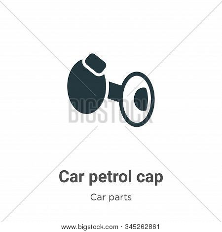 Car petrol cap icon isolated on white background from car parts collection. Car petrol cap icon tren