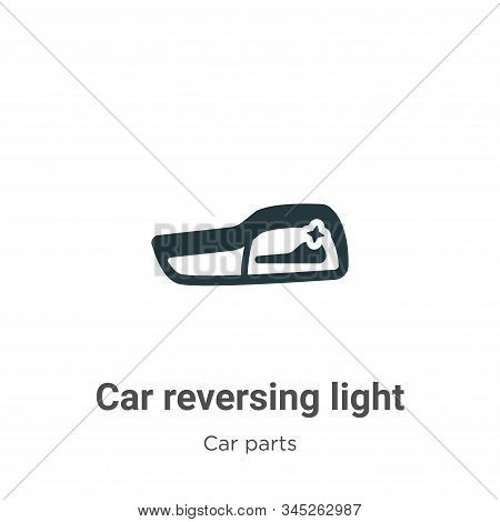Car reversing light icon isolated on white background from car parts collection. Car reversing light