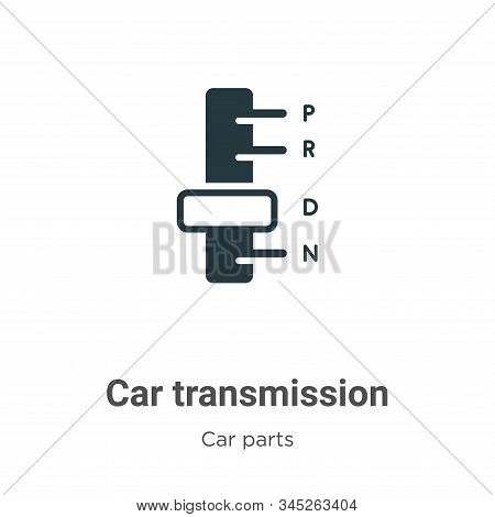 Car transmission icon isolated on white background from car parts collection. Car transmission icon