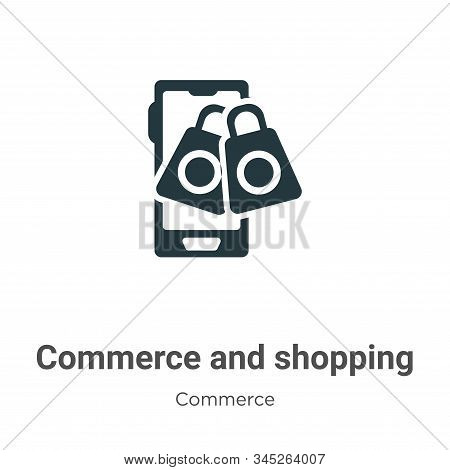 Commerce and shopping icon isolated on white background from commerce collection. Commerce and shopp