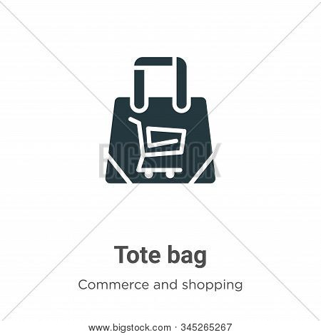 Tote bag icon isolated on white background from commerce and shopping collection. Tote bag icon tren
