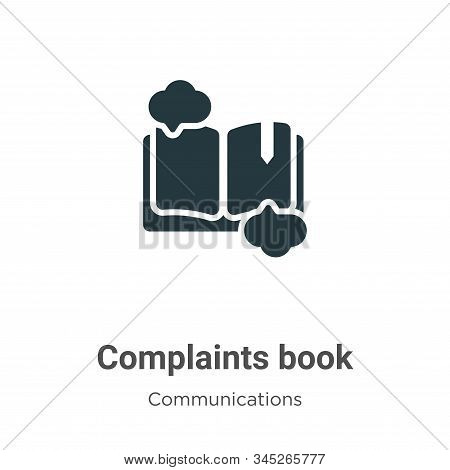 Complaints Book Vector Icon On White Background. Flat Vector Complaints Book Icon Symbol Sign From M
