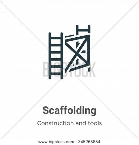 Scaffolding icon isolated on white background from construction and tools collection. Scaffolding ic