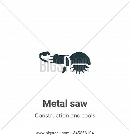 Metal saw icon isolated on white background from construction and tools collection. Metal saw icon t
