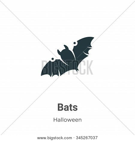 Bats icon isolated on white background from halloween collection. Bats icon trendy and modern Bats s