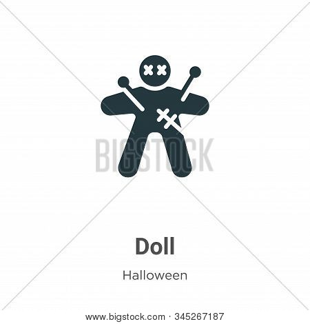 Doll icon isolated on white background from halloween collection. Doll icon trendy and modern Doll s
