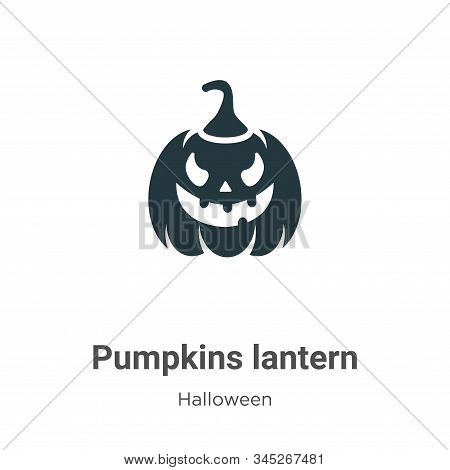 Pumpkins lantern icon isolated on white background from halloween collection. Pumpkins lantern icon