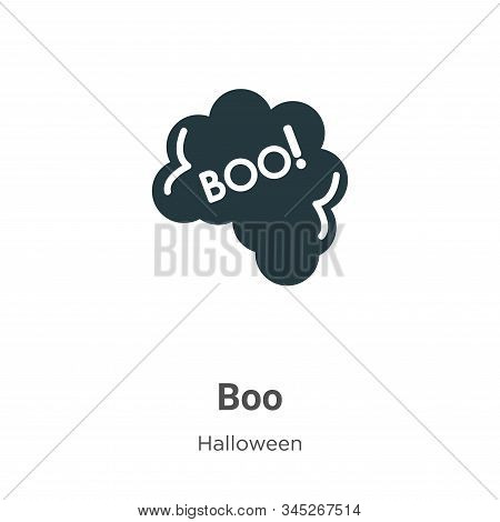 Boo icon isolated on white background from halloween collection. Boo icon trendy and modern Boo symb