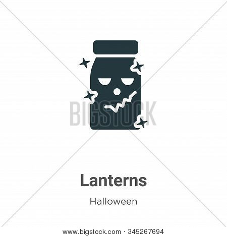 Lanterns icon isolated on white background from halloween collection. Lanterns icon trendy and moder