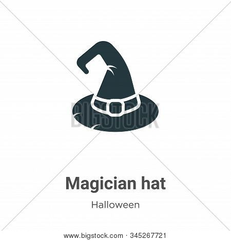 Magician hat icon isolated on white background from halloween collection. Magician hat icon trendy a