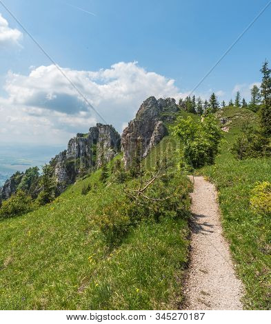 Ostra Hill With Rocks, Meadows And Hiking Trail In Velka Fatra Mountains In Slovakia During Beautifu