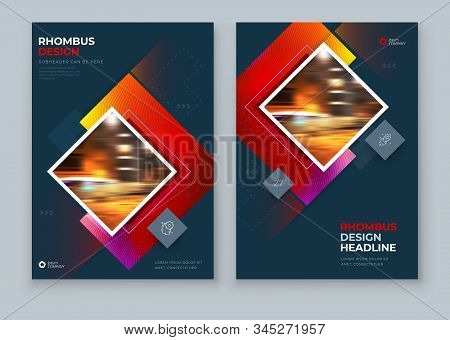 Red Brochure Cover Background Design. Corporate Template Layout For Business Annual Report, Catalog,