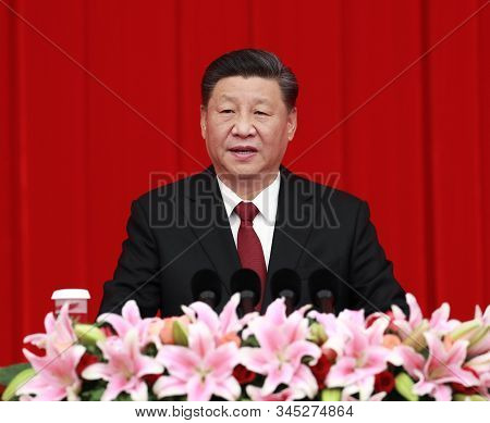 Beijing,china,january 2020,china President Xi Jinping In Central Committee Meeting