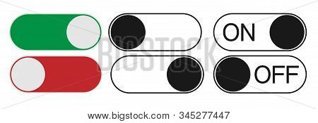 Button On Off Icon In Trendy Design Style. Vector Eps Button On Off Icon Isolated On White Backgroun