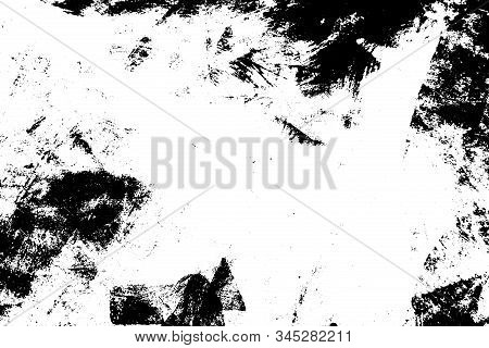 Distress Dirty Overlay Background. Grunge Mess Blot Background. Burnt Trace Cover Design Element. Ep