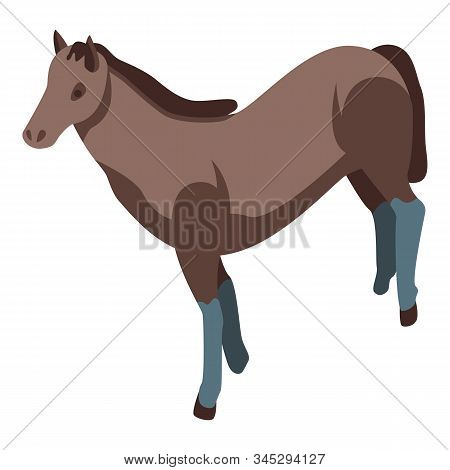 Mustang Horse Icon. Isometric Of Mustang Horse Vector Icon For Web Design Isolated On White Backgrou