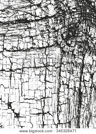 Distressed Overlay Texture Of Cracked Concrete