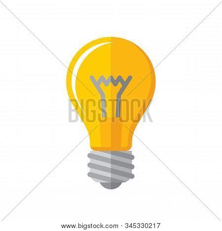 Lightbulb Icon. Concept Icon Vector Illustration In Flat Style Design. Creative Idea Inspiration Ico