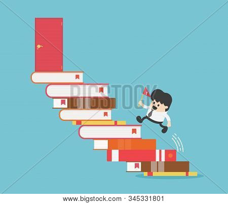 Successful Business People, Path Of Success Begins With Reading.path Of Success Begins With Reading.