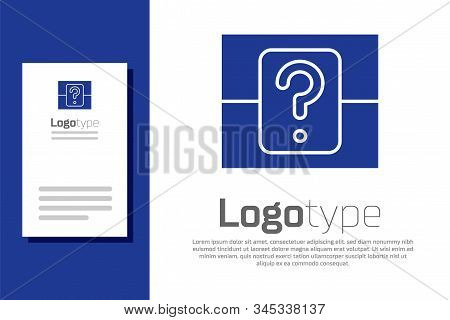 Blue Mystery Box Or Random Loot Box For Games Icon Isolated On White Background. Question Box. Logo