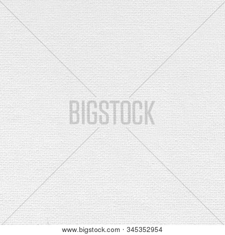 White Art Canvas With A Rough Textured Surface .texture Or Background