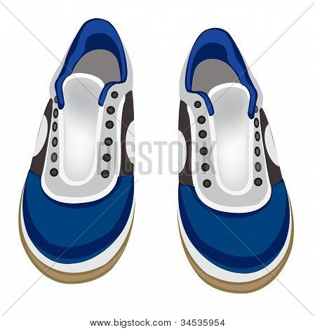 Atheletic Footwear On White Background