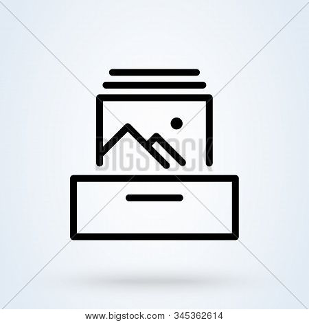 Collectible Photo, Simple Vector Modern Icon Design Illustration.