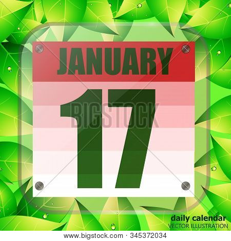 January 17 Icon. For Planning Important Day. Banner For Holidays And Special Days. January Seventeen